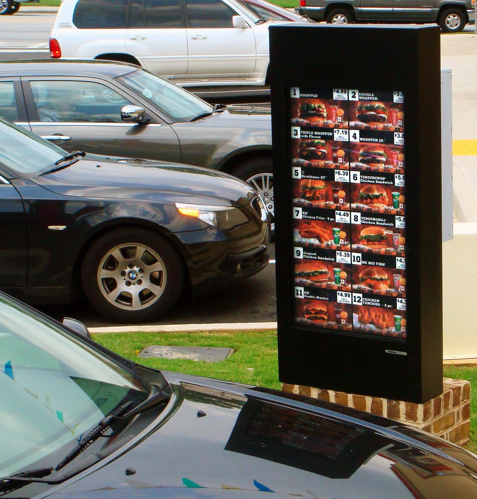 Burger King Outdoor Digital Menu Boards ViewStation ITSENCLOSURES.jpg