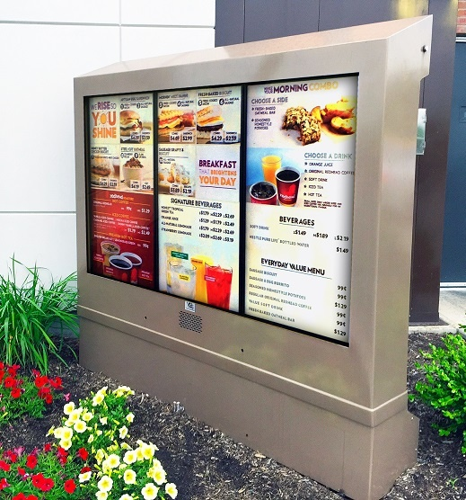 Wendys 3 screen outdoor digital menu boards viewstation itsenclosures lcd enclosure.jpg