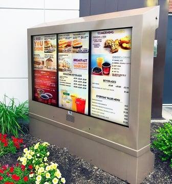 Wendys 3 screen outdoor digital menu boards viewstation itsenclosures lcd enclosure.jpg