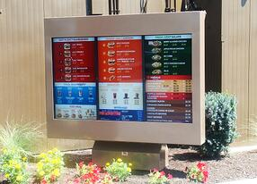 Wendys Outdoor Digital Menu Board viewstation ITSENCLOSURES