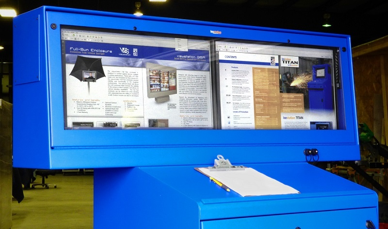 dual monitor enclosure titan hammerhead icestation itsenclosures